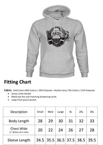 Ink Trendz® Pandemic Gas Mask Monkey Streetwear Funny Quarantine Hoodie Sweater
