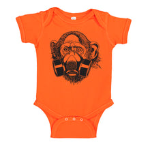 Load image into Gallery viewer, Ink Trendz® Pandemic Gas Mask Monkey Quarantine  Baby-Toddler One-piece Bodysuit  onesie coronavirus t-shirt