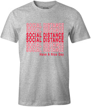 Load image into Gallery viewer, Ink Trendz® Social Distance Have A Nice Day  Shopping Themed est. 2020 Funny Covid-19 T-Shirt Heather Grey T-Shirt Coronavirus T-Shirt, Social Distancing T-Shirt