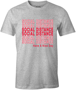 Ink Trendz® Social Distance Have A Nice Day  Shopping Themed est. 2020 Funny Covid-19 T-Shirt Heather Grey T-Shirt Coronavirus T-Shirt, Social Distancing T-Shirt