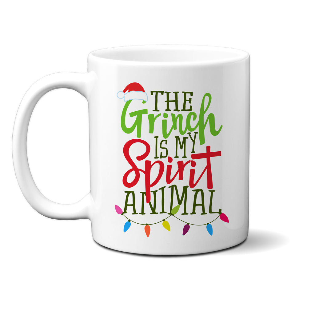 Ink Trendz® The Grinch Is My Spirit Animal Funny Christmas Coffee Mug
