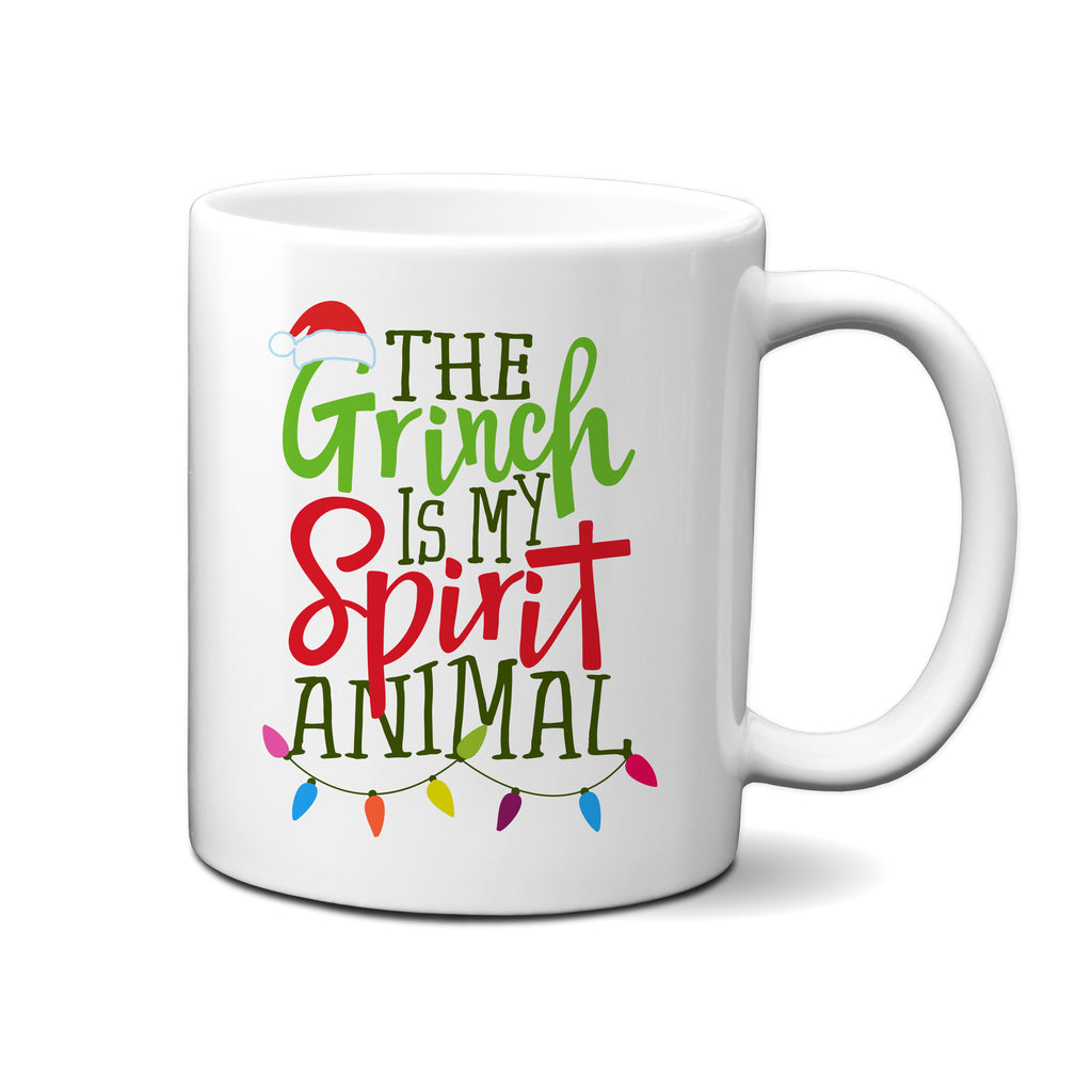 Ink Trendz® The Grinch Is My Spirit Animal Funny Christmas Coffee Mug, Christmas Gift Idea, Christmas Coffee Mug