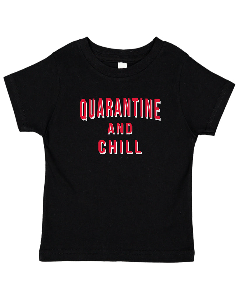 Ink Trendz® Quarantine And Chill  Funny Covid-19 Baby Toddler Tee T-Shirt