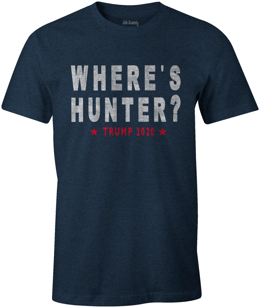 Ink Trendz® WHERE's HUNTER? TRUMP 2020 Funny Political T-Shirt
