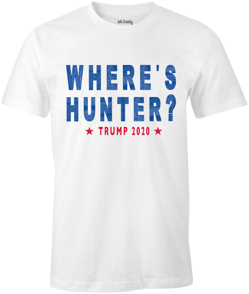 Ink Trendz® WHERE's HUNTER? TRUMP 2020 Funny Political T-Shirt Hunter Biden
