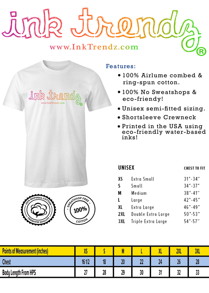 Ink Trendz® T-shirt Sizing Chart