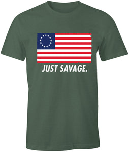 Just Savage. Betsy Ross Patriotic Premium Soft T-Shirt