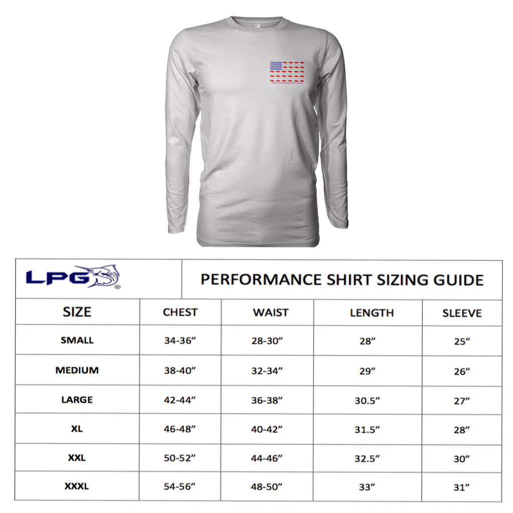 LPG Apparel Co. ALOHA Pipeline Surfer Long Sleeve Shirt for Unisex UPF 50 Dri-Fit Performance Rashguard T-Shirt