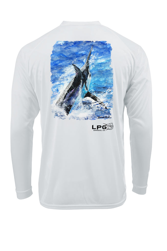 LPG Apparel Co. Grander Long Sleeve Fishing Shirt for Unisex UPF 50 Dri-Fit Performance Rashguard T-Shirt, Fishing apparel, Fishing T-Shirt, Fisherman gift, Fisherman T-Shirt
