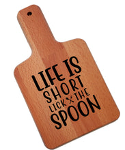 Load image into Gallery viewer, Ink Trendz Lifes Short Lick the Spoon Decorative Charcuterie Cheese Cutting Board