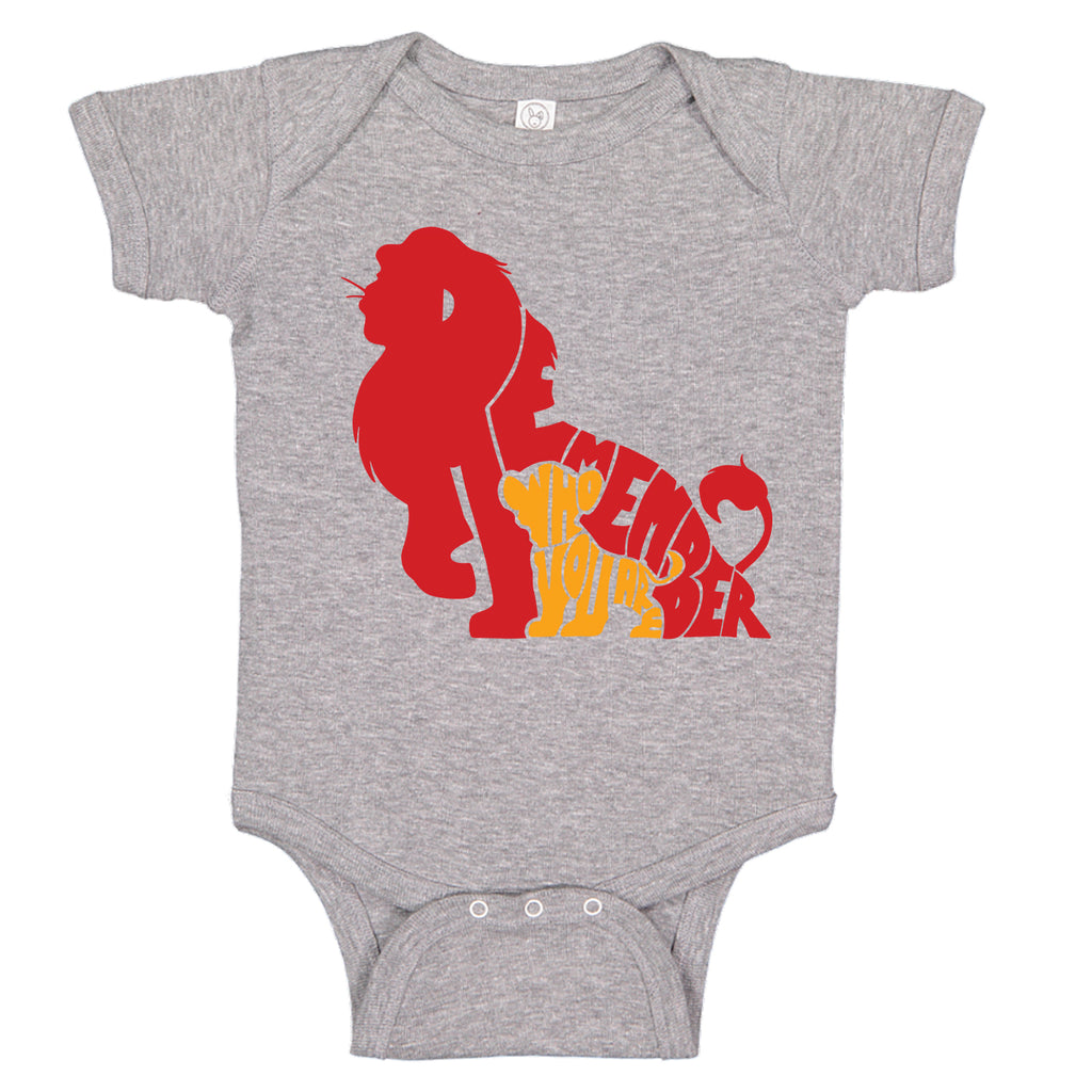 Remember Who You Are Simba Lion King Themed Bodysuit Romper