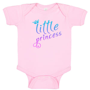Little Princess Crown & Hearts Pink Fade Cute Baby Girl  Bodysuit