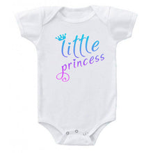 Load image into Gallery viewer, Little Princess Crown & Hearts Pink Fade Cute Baby Girl  Bodysuit