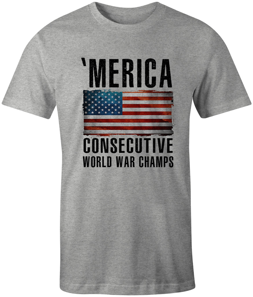 Ink Trendz® 'Merica Consecutive World War Champs USA Flag T-Shirt