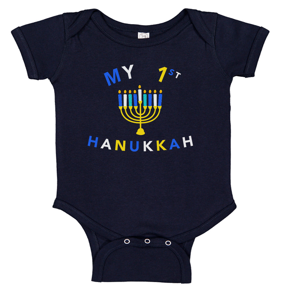 MY 1st HANUKKAH Menorah Baby Body Suit