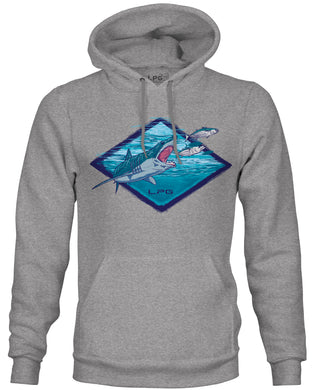 LPG Apparel CO. Mako Signature Sport Fishing Hoodie Sweater, Shark Fishing Apparel, Shark Week Apparel, Shark Week T-Shirt