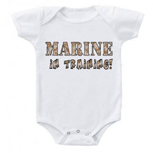 Load image into Gallery viewer, Marine in Training Military Baby Bodysuit Romper