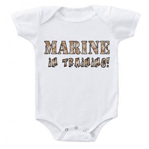 Don/'t Tread On Me Military Themed Gadsden Flag Baby Infant Bodysuit Romper