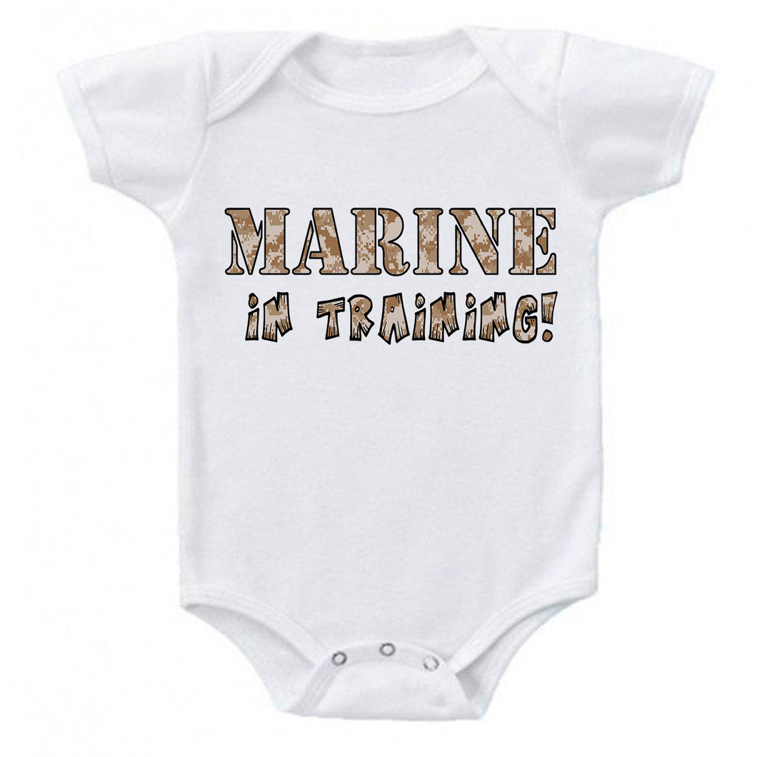 Marine in Training Military Baby Bodysuit Romper