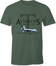 Load image into Gallery viewer, Ink Trendz® Assasin's Administration Trump MQ-9 Reaper Drone Rise of the Terrorist Killers T-Shirt, Drone T-Shirt, Drone T-Shirts, Militaary T-Shirts, MAGA, general soleimani