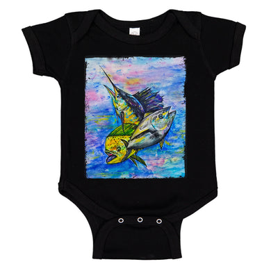 Mahi Tuna Marlin Mixed Bag Fishing Baby Bodysuit