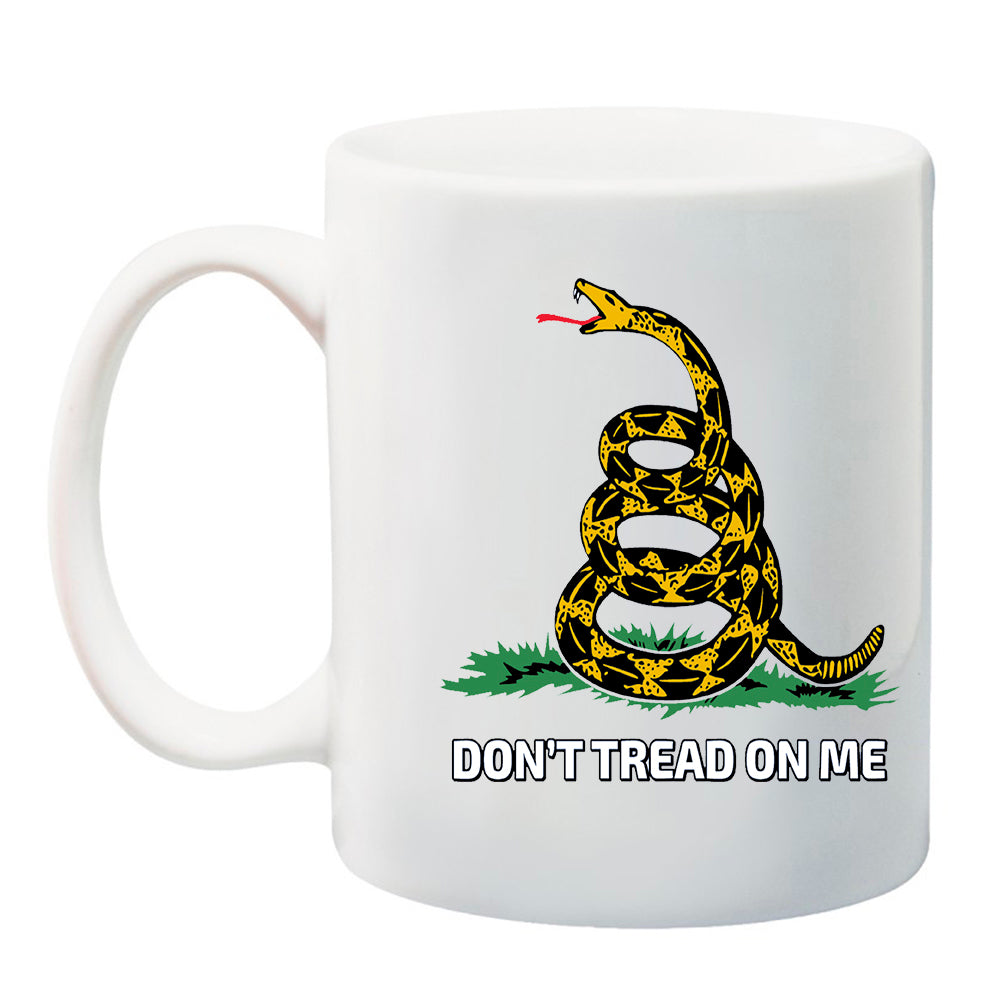 Ink Trendz® Don't Tread On Me Gadsden Serpent 11 oz. Ceramic Coffee Mug Military themed Coffee Mug, Gadsden Flag Mug
