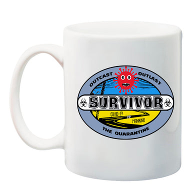 Ink Trendz® Coronavirus Survivor Outcast Outlast The Quarantine COVID-19  11 oz. Ceramic Coffee Mug