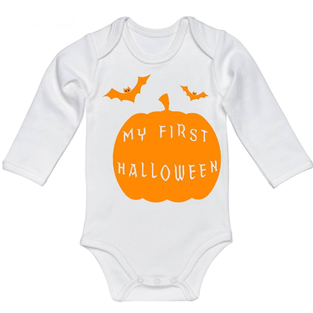 My First Halloween Pumpkin Baby Bodysuit
