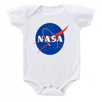 Ink Trendz® NASA Meatball Signature Logo Space Exploration Baby Bodysuit Onesie, Nasa Onesies, Nasa Onesie