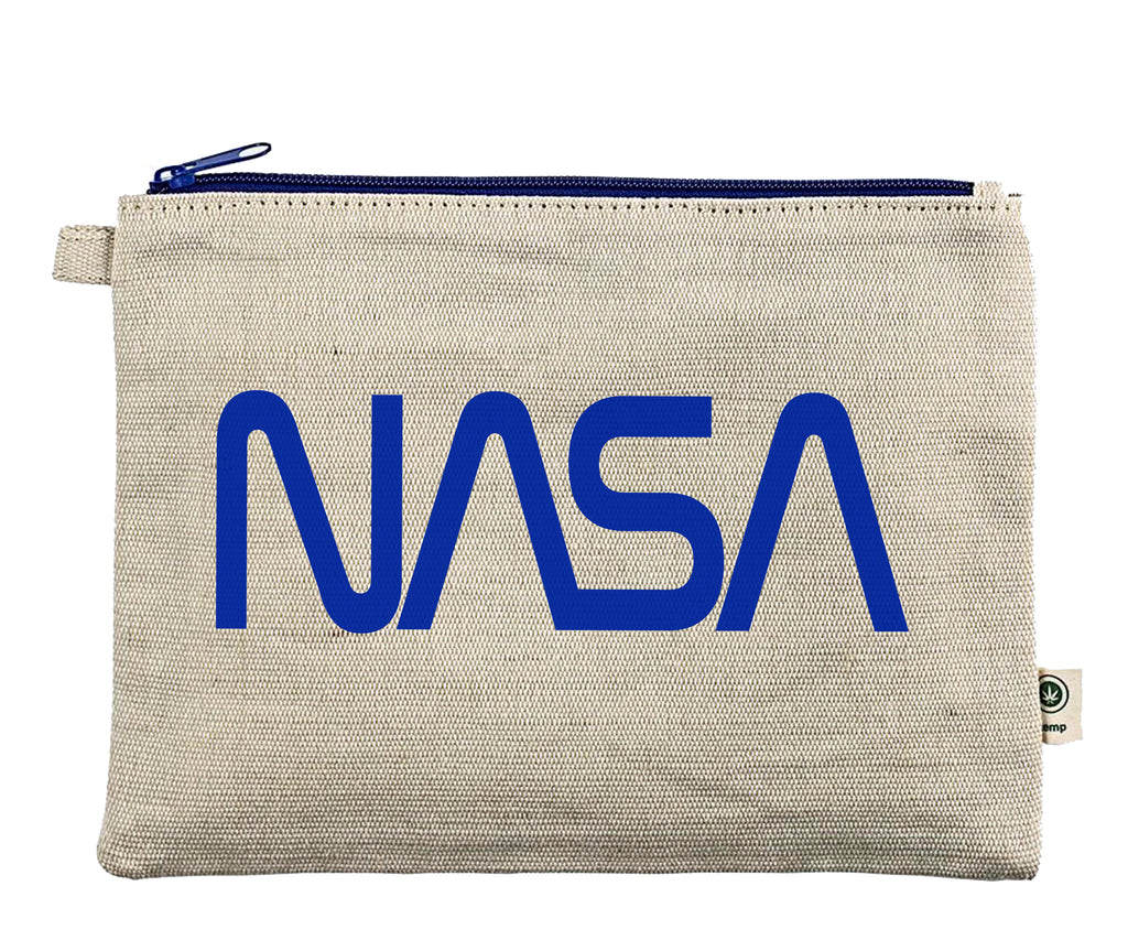Ink Trendz® NASA Worm Logo Zipper Hemp Pouch Makeup Bag