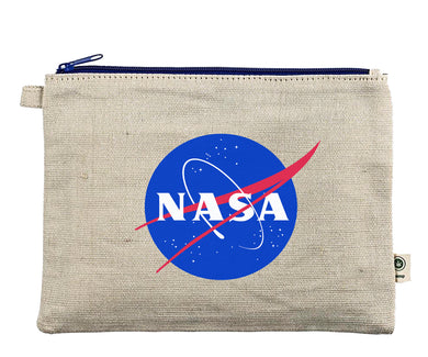 Ink Trendz® NASA Meatball Logo Zipper Hemp Pouch Bag