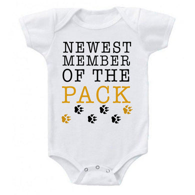 Newest Member Of The Pack Bodysuit Baby Bodysuit