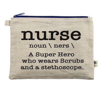 Ink Trendz® Nurse Novelty Definition Zipper Hemp Pouch Bag
