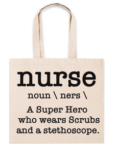Nurse Parody Definition Canvas Tote