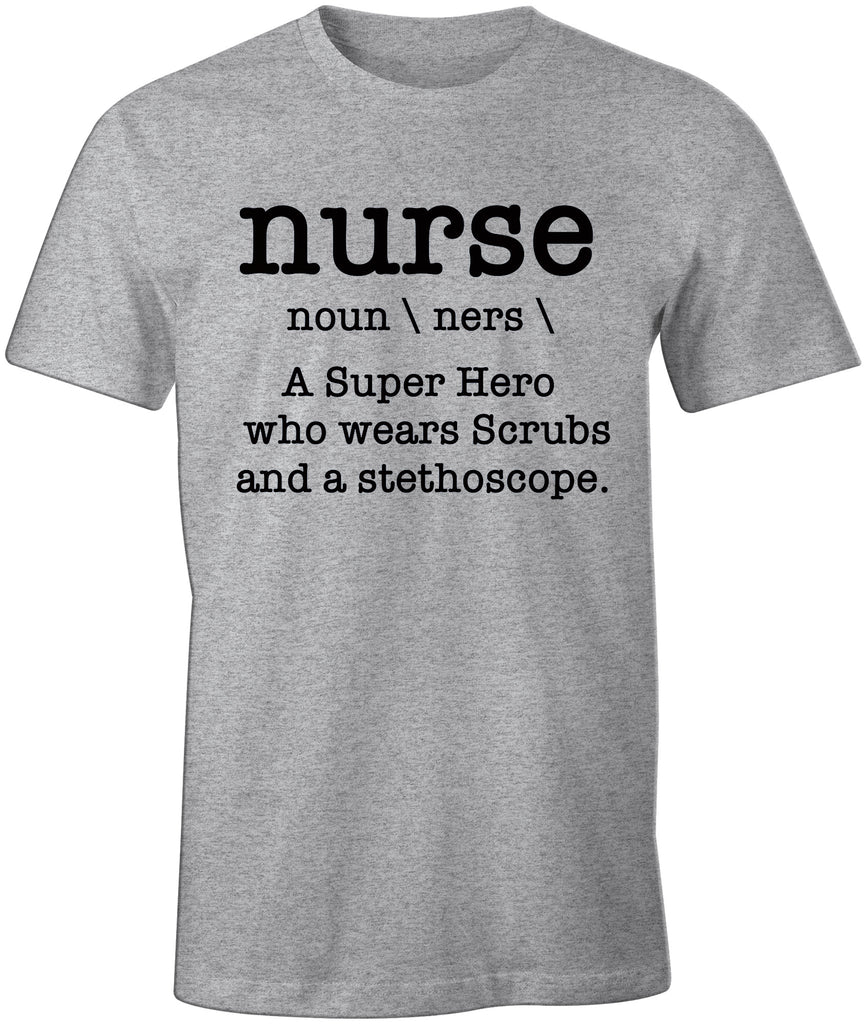 Nurse Nursing Parody Funny Definition Premium  T-Shirt
