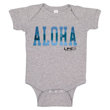 Load image into Gallery viewer, LPG Apparel Co. ALOHA SURFER Hawaii Vibes Infant Baby Bodysuit Romper Onesie, Aloha Baby Onesies, Aloha Baby Onesie, Aloha Baby, Aloha Baby T-Shirt Black