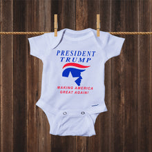 Load image into Gallery viewer, Ink Trendz President TRUMP Making America Great Again Political Baby Onesie® One-Piece Bodysuit