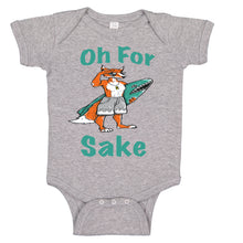 Load image into Gallery viewer, Ink Trendz Oh For Fox Sake Cute Fox Surfing Themed Infant Bodysuit