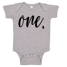 Load image into Gallery viewer, Ink Trendz® ONE. First Birthday Milestone Outfit Baby Bodysuit Romper