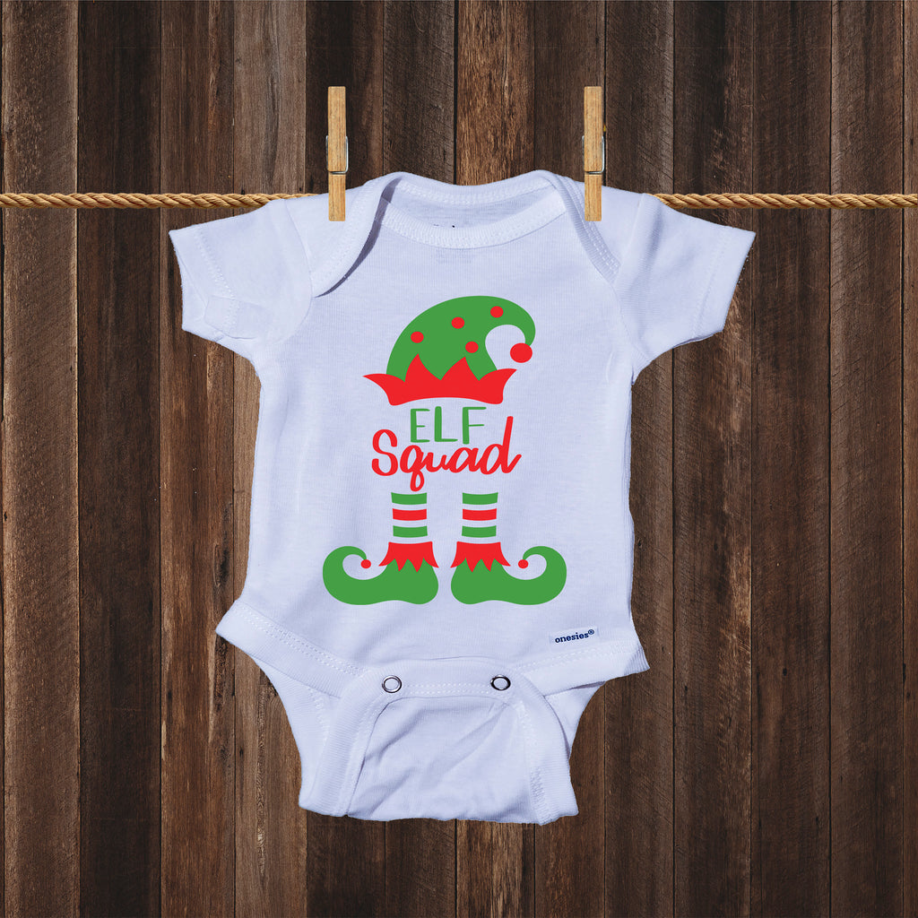 Ink Trendz® Elf Squad Cute Christmas Elf Onesie® One-Piece Bodysuit- Ink Trendz