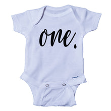 Load image into Gallery viewer, Ink Trendz® ONE. Birthday Milestone 1st Birthday Onesie® One-Piece Bodysuit
