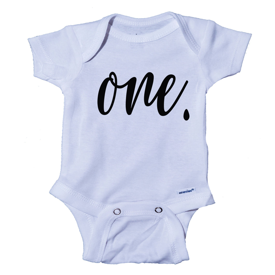 Ink Trendz® ONE. Birthday Milestone 1st Birthday Onesie® One-Piece Bodysuit