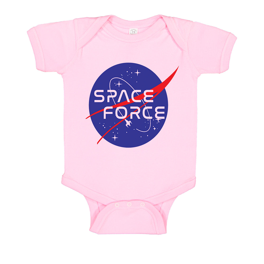 Space Force USSF Funny Nasa Style Baby Bodysuit