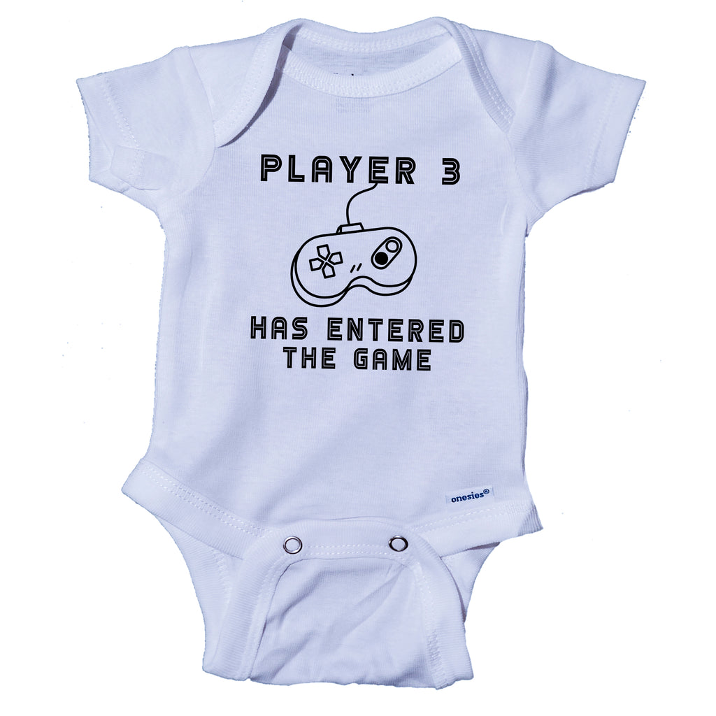 Ink Trendz® Player 3 Has Entered The Game Gamer Infant Onesie®  Bodysuit Romper