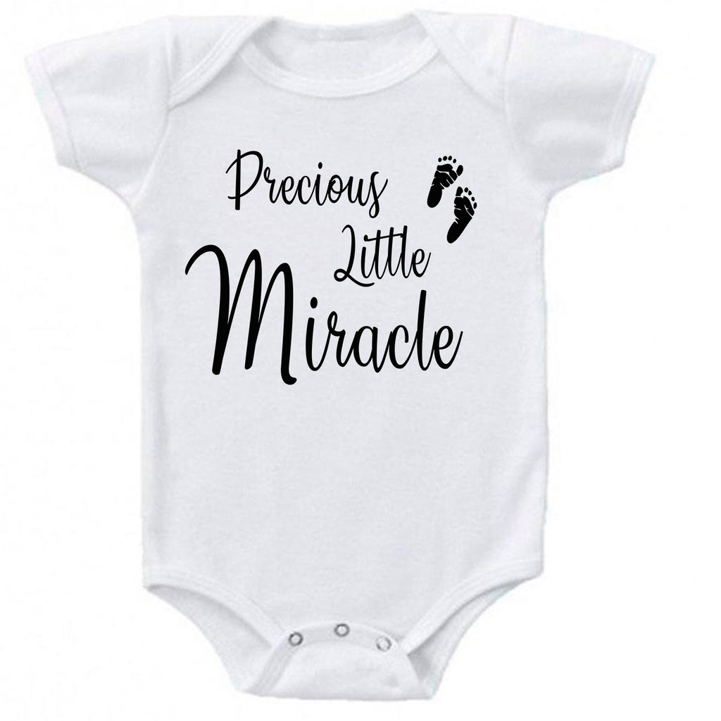 Precious Little Miracle Fertility Foot Prints Baby Bodysuit Romper