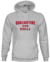 Load image into Gallery viewer, Ink Trendz® Quarantine and Chill Coronavirus COVID-19 Hoodie Sweatshirt, Netflix Hoodie, Netflix apparel, Quarantine Hoodie, Quarantine T-shirt
