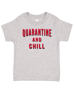 Ink Trendz® Quarantine And Chill  Funny Covid-19 Baby Toddler Tee T-Shirt Netflix inspired t-shirt, netflix and chill