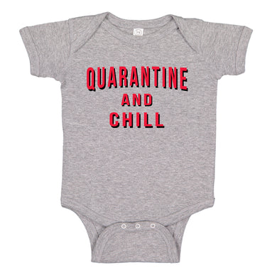 Ink Trendz® Quarantine and Chill Coronavirus Funny Baby One-piece Bodysuit
