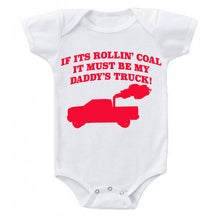Load image into Gallery viewer, Snappy Suits My Daddy's Rollin Coal 4x4 Diesel Pickup Truck Short Sleeve Baby Creeper 1Z Infant Suit Romper