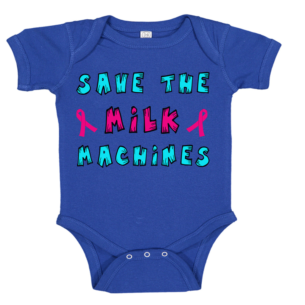 Save The Milk Machines Breast Cancer Awareness Baby Bodysuit Romper
